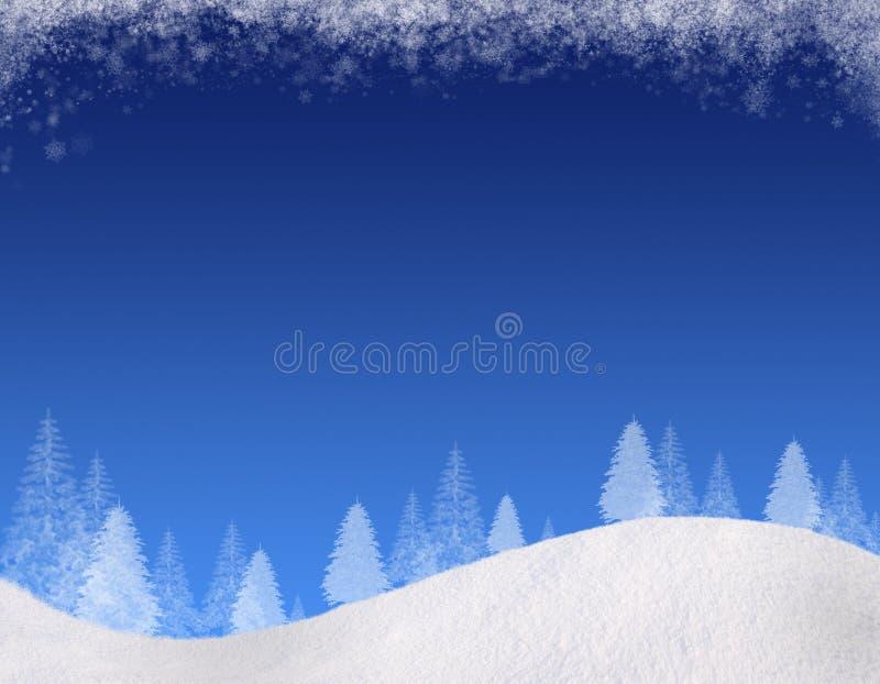 De winter backgound#1 vector illustratie