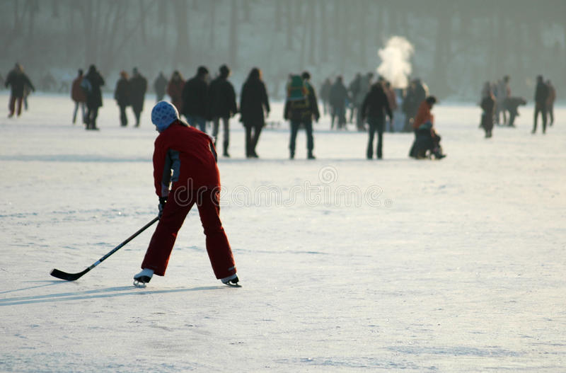 De winter in Berlijn stock afbeeldingen