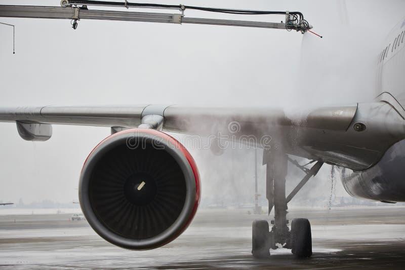 De winter bij de luchthaven stock foto