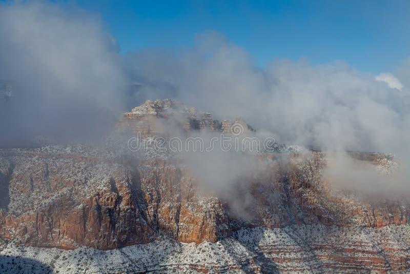 De winter bij Grote Canion stock afbeelding