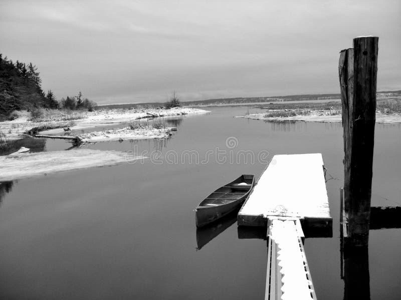 De winter bij Warm Strand stock foto's