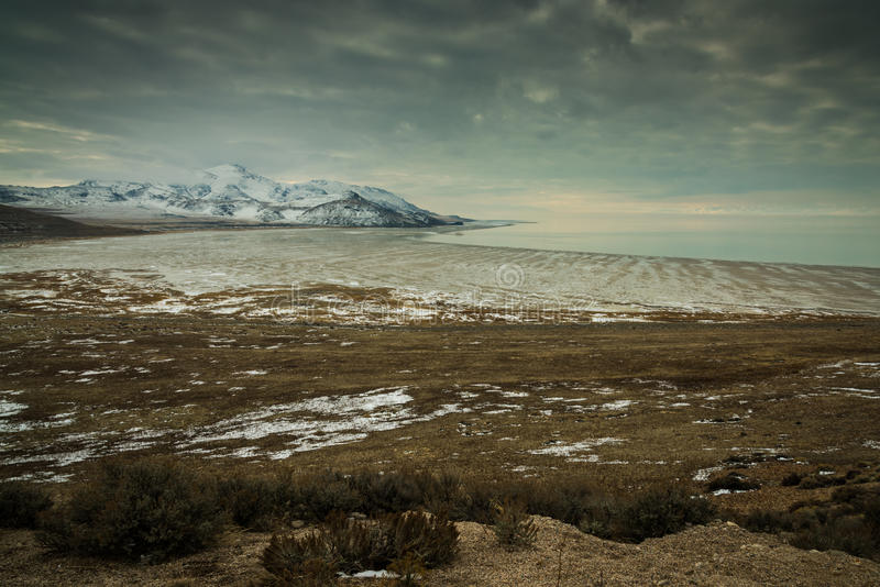 De winter bij Witte Rotsbaai royalty-vrije stock afbeeldingen