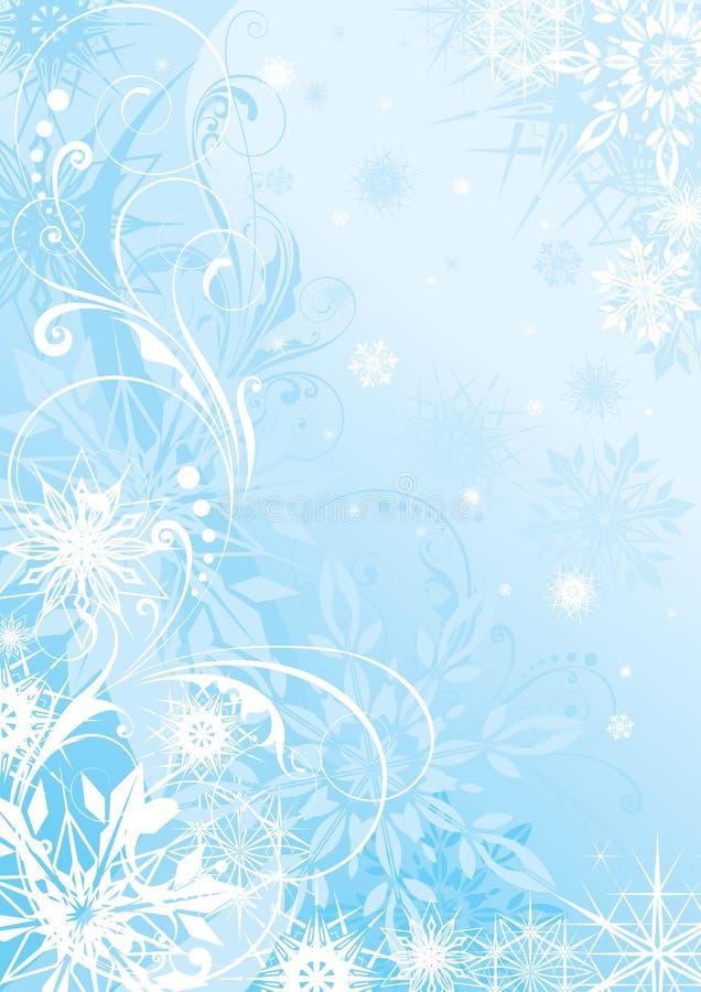De winter blauwe achtergrond royalty-vrije illustratie