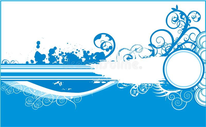 De winter blauwe achtergrond grunge vector illustratie