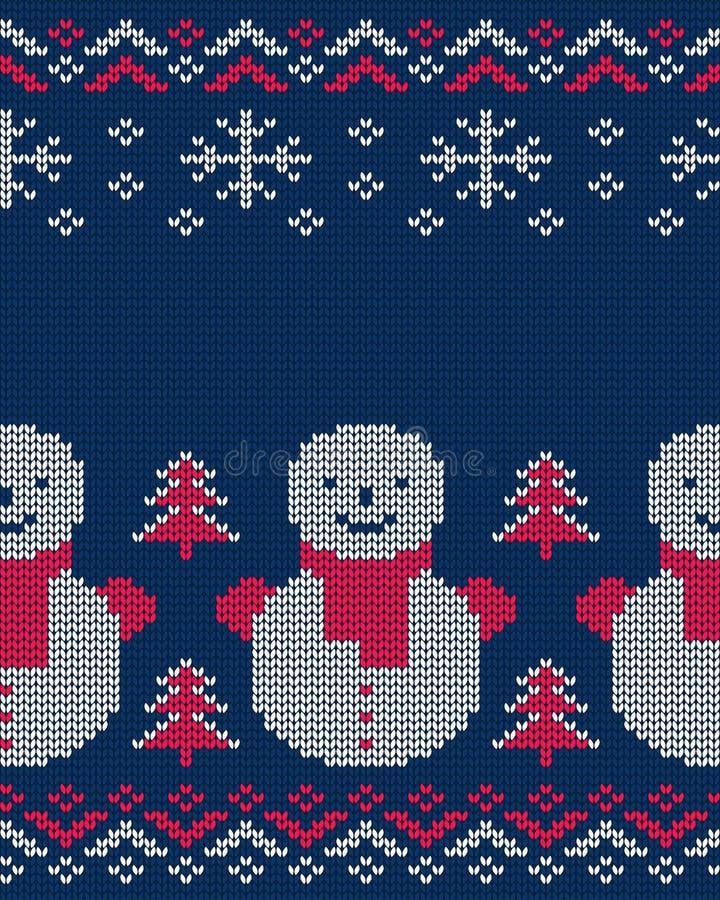 De winter breide naadloos patroon voor sweater Vector illustratie vector illustratie
