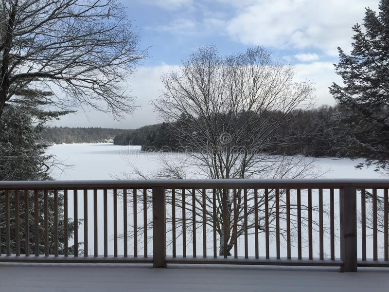 de winter Canada royalty-vrije stock afbeelding
