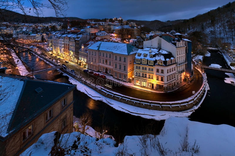 De winter Carlsbad royalty-vrije stock foto's