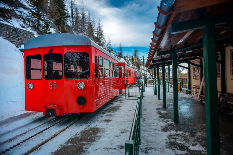De winter in Chamonix royalty-vrije stock foto's