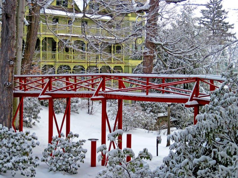 De winter in Chautauqua-Instelling royalty-vrije stock afbeelding