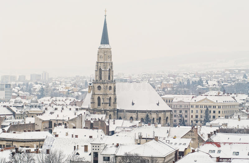 De winter in Cluj Napoca stock fotografie