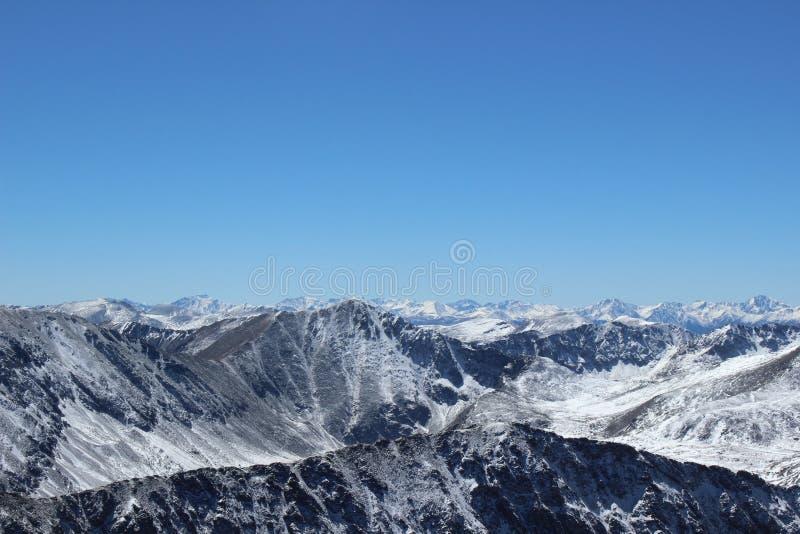 De winter in Colorado Rocky Mountains, Dilemmapiek royalty-vrije stock afbeeldingen