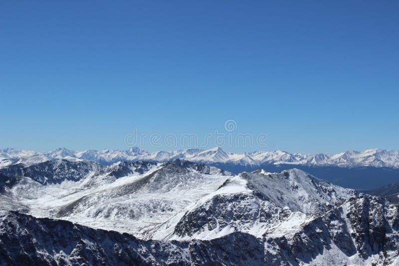 De winter in Colorado Rocky Mountains, Dilemmapiek royalty-vrije stock afbeelding