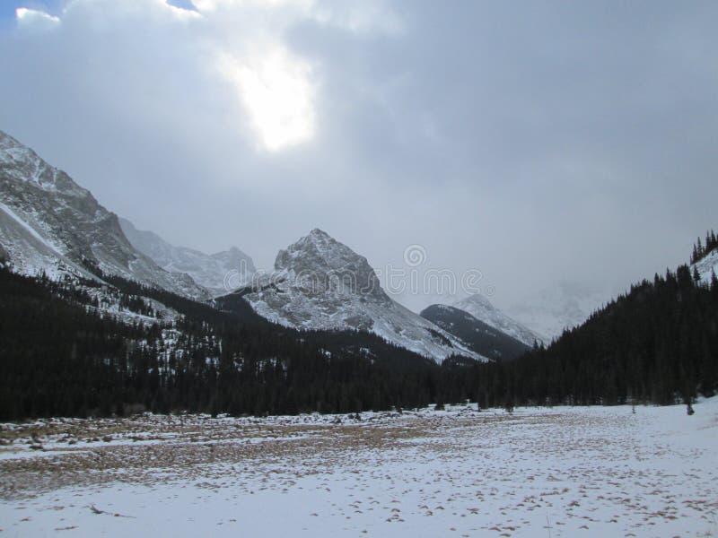 De winter in Colorado Rocky Mountains, Sangre DE Cristo Range stock fotografie