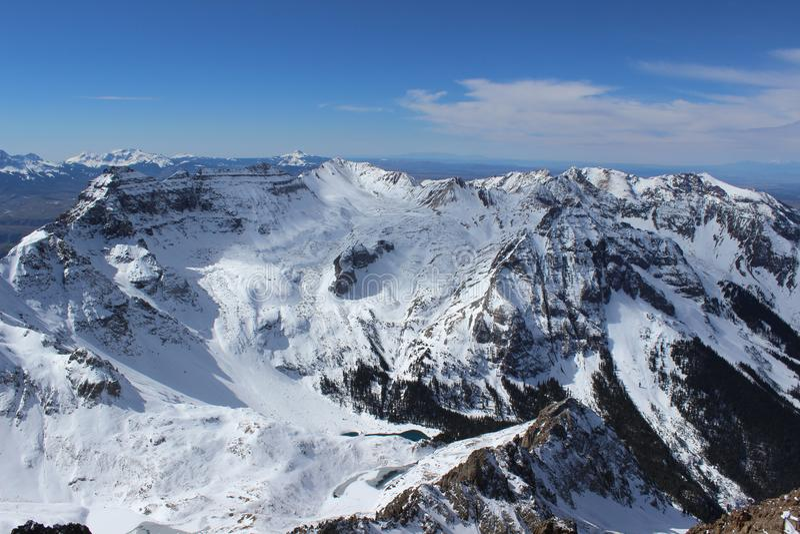 De winter in Colorado Rocky Mountains, Sangre DE Cristo Range royalty-vrije stock afbeeldingen