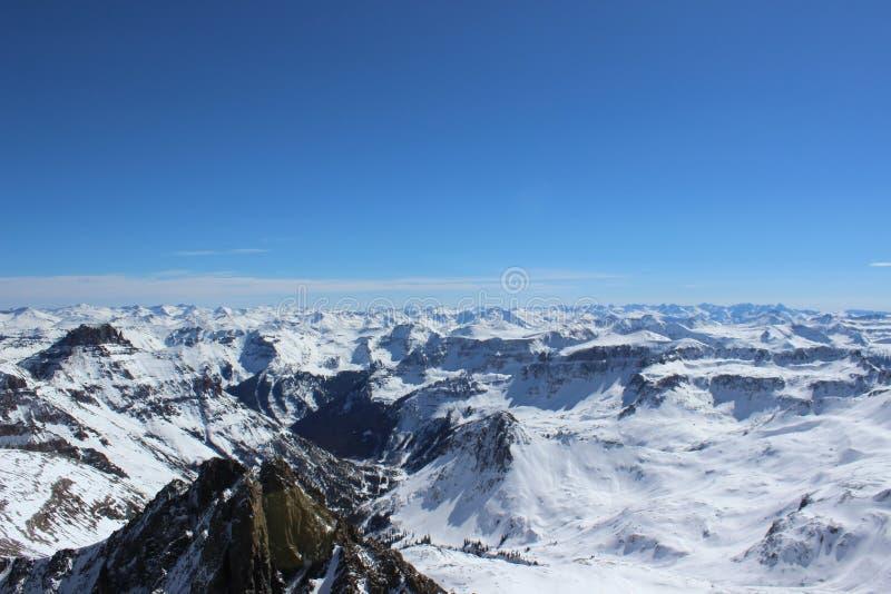 De winter in Colorado Rocky Mountains, Sangre DE Cristo Range royalty-vrije stock foto's