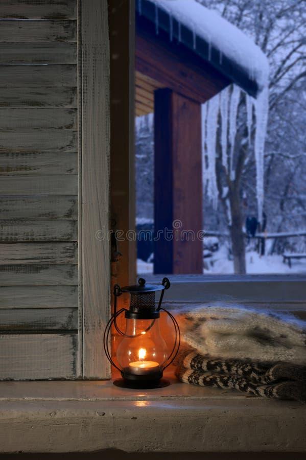 De winter comfortabel stilleven stock foto