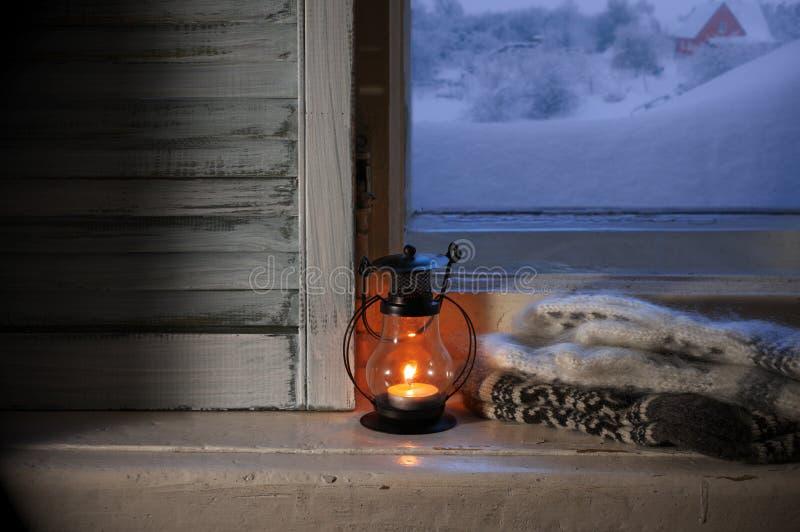 De winter comfortabel stilleven stock foto's