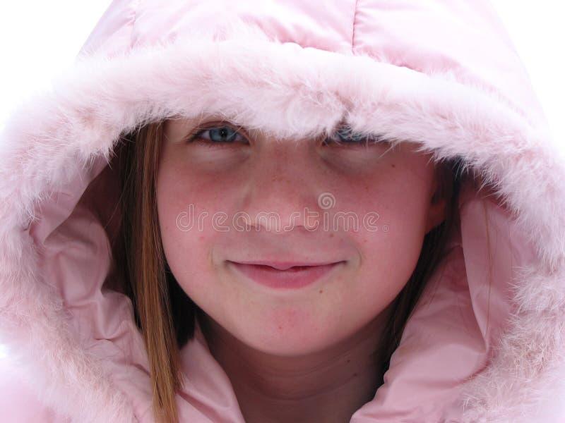 De winter Cutie - portret van een jong meisje stock afbeeldingen