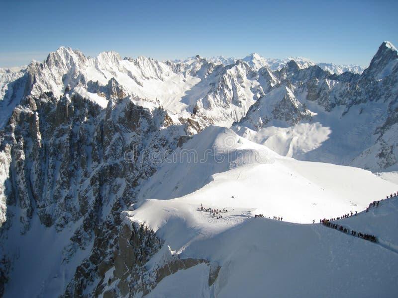 De winter in de Alpen royalty-vrije stock foto