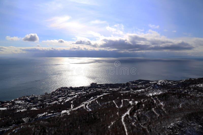 De winter in de Krim stock afbeelding