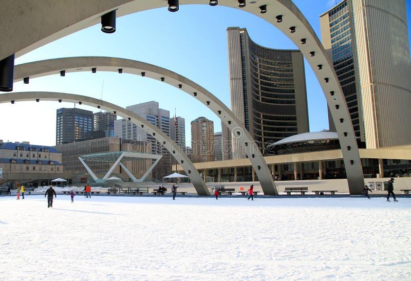 Het Vierkant van Toronto Nathan Phillips royalty-vrije stock fotografie