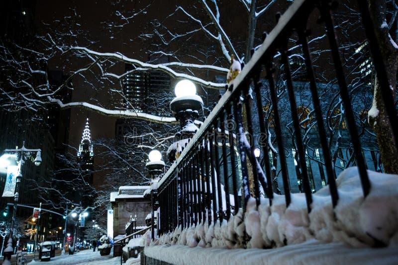 De winter in de Stad van New York royalty-vrije stock afbeeldingen