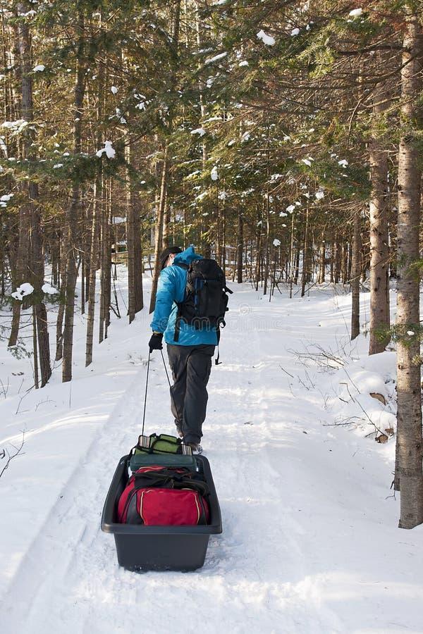 De winter die - het Provinciale Park van Killarney, kamperen stock afbeelding