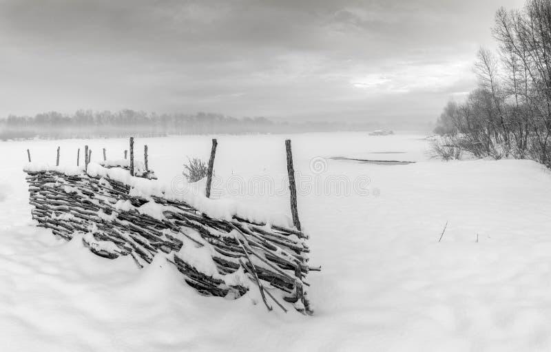 De winter Eerste sneeuw stock foto's