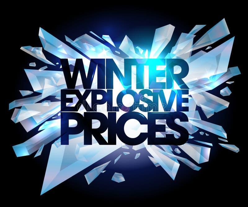 De winter explosieve prijzen vector illustratie