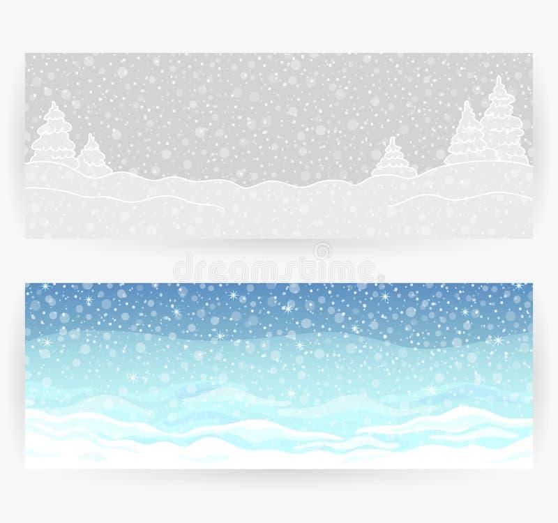 De winter feestelijke achtergronden stock illustratie