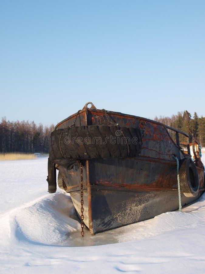 De winter in Finland stock afbeelding
