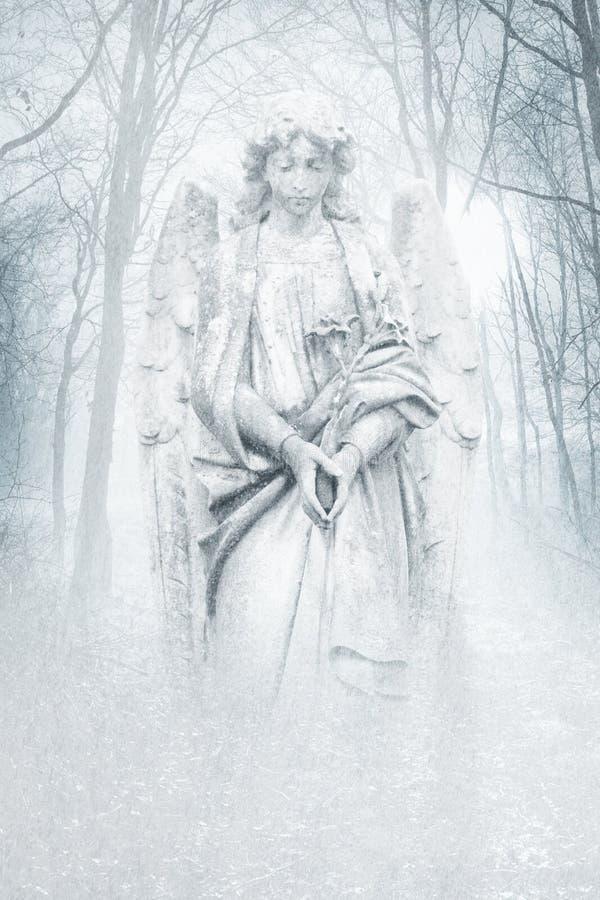 De winter Forest Angel stock afbeelding