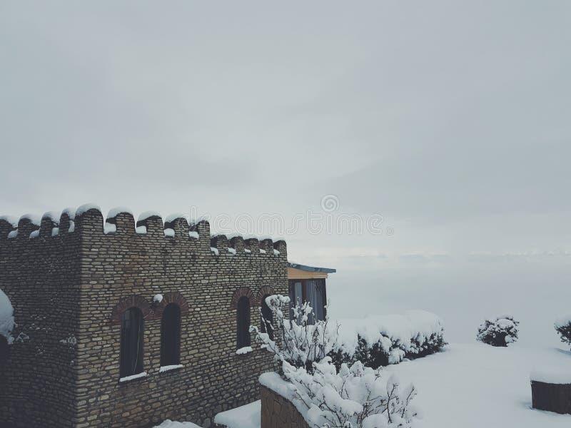 de winter in Georgië stock afbeeldingen