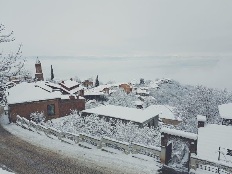 de winter in Georgië royalty-vrije stock fotografie
