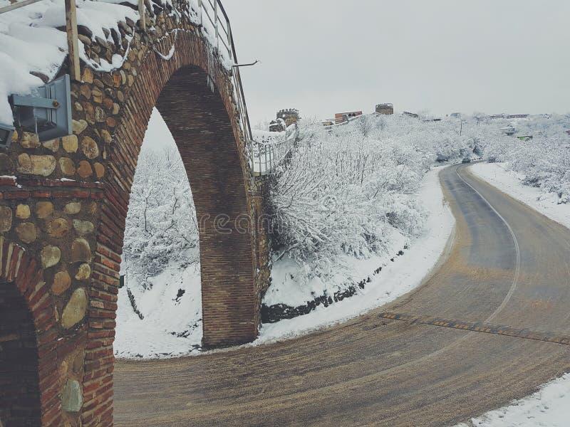 de winter in Georgië royalty-vrije stock afbeeldingen