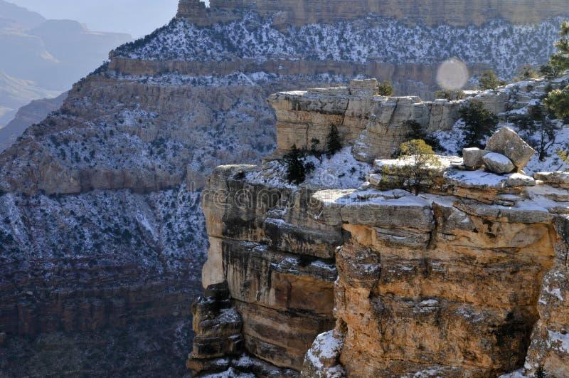 De winter in Grand Canyon royalty-vrije stock foto's