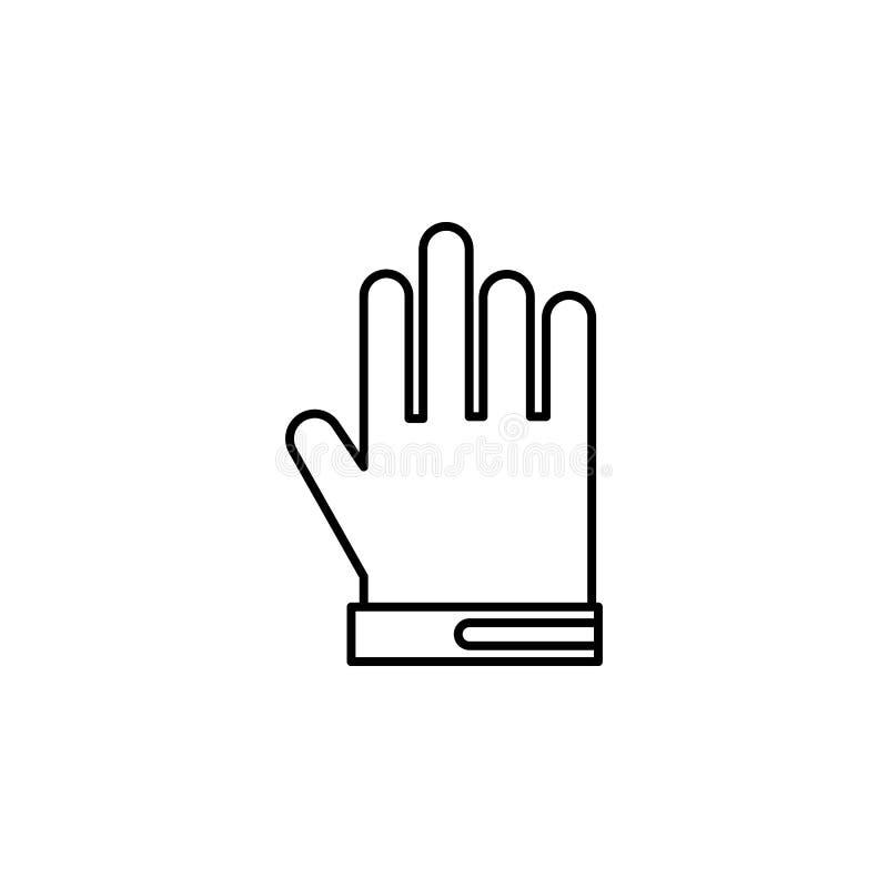 De winter, handschoenen, het pictogram van het sportoverzicht Element van de illustratie van de de wintersport Tekens en symbolen vector illustratie