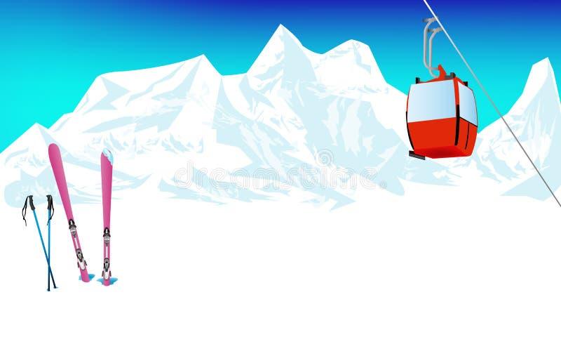 De winter het extreme sporten ski?en vector illustratie