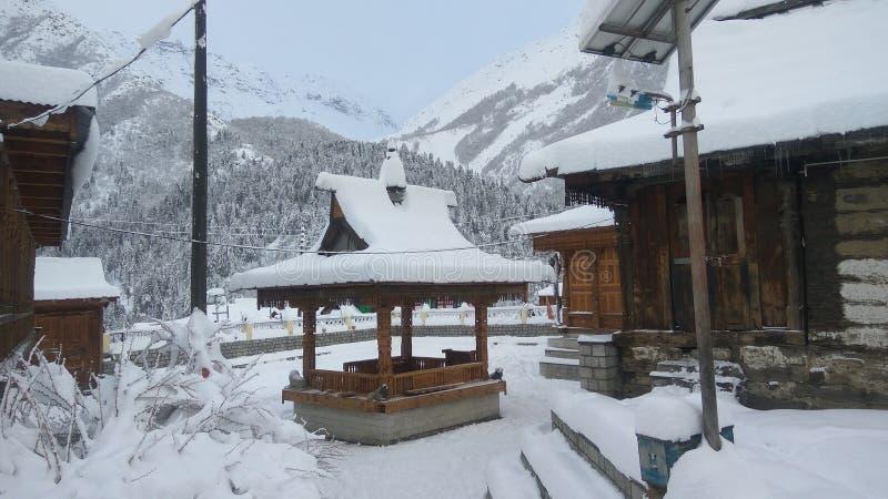 De winter himachal pradesh van sneeuwchhitkul stock foto
