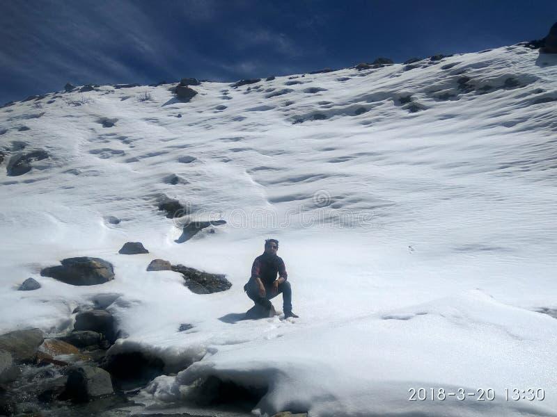 De winter himachal pradesh van sneeuwchhitkul royalty-vrije stock afbeeldingen