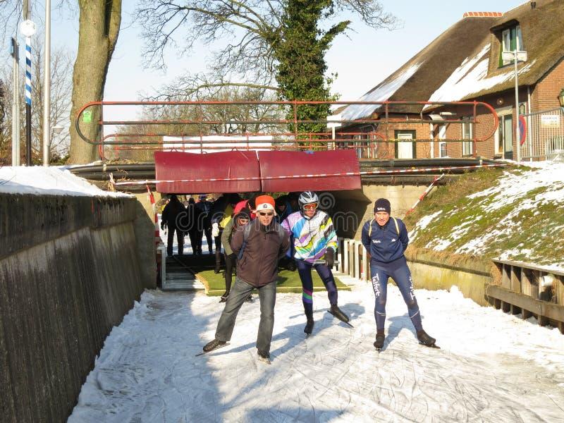 De winter in Holland stock fotografie