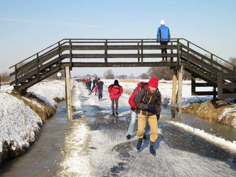 De winter in Holland royalty-vrije stock fotografie