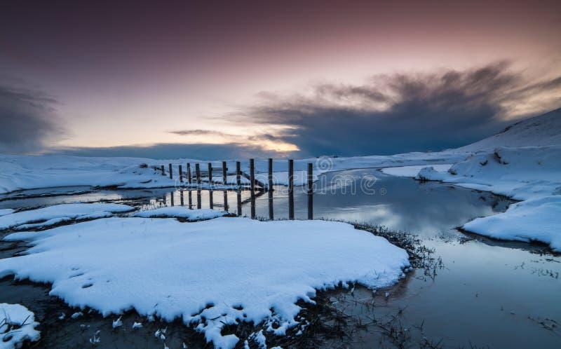 De winter in IJsland stock foto's