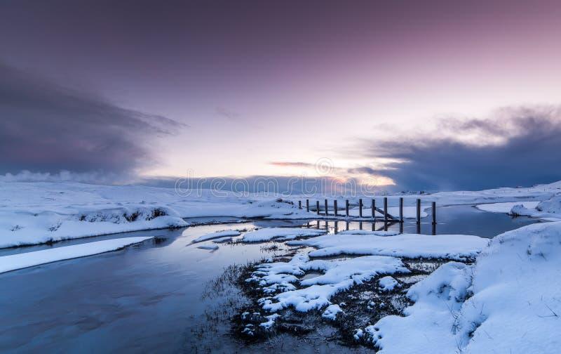De winter in IJsland stock foto