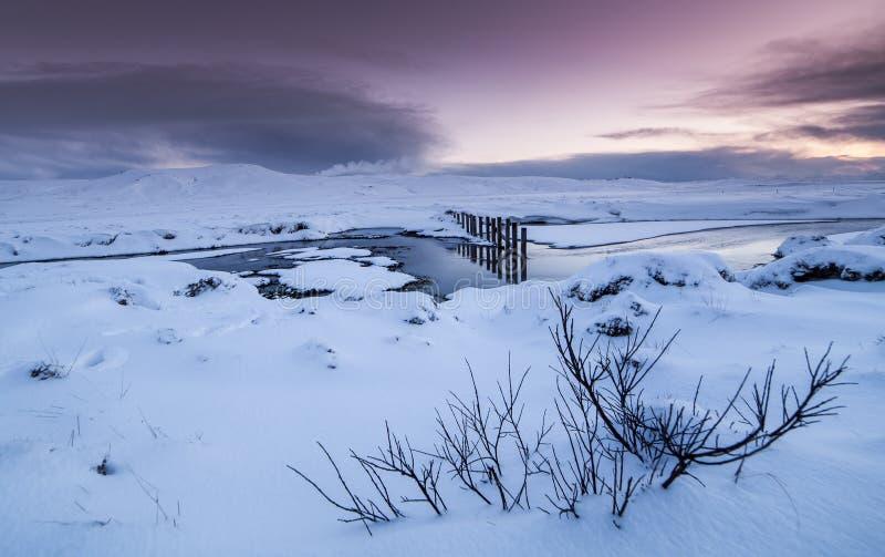 De winter in IJsland royalty-vrije stock afbeelding