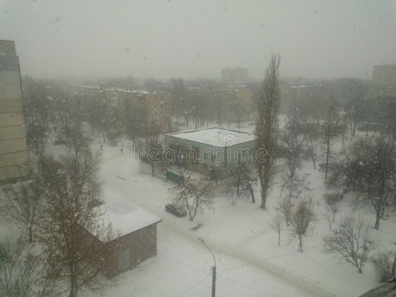 De winter in Kharkov stock afbeelding