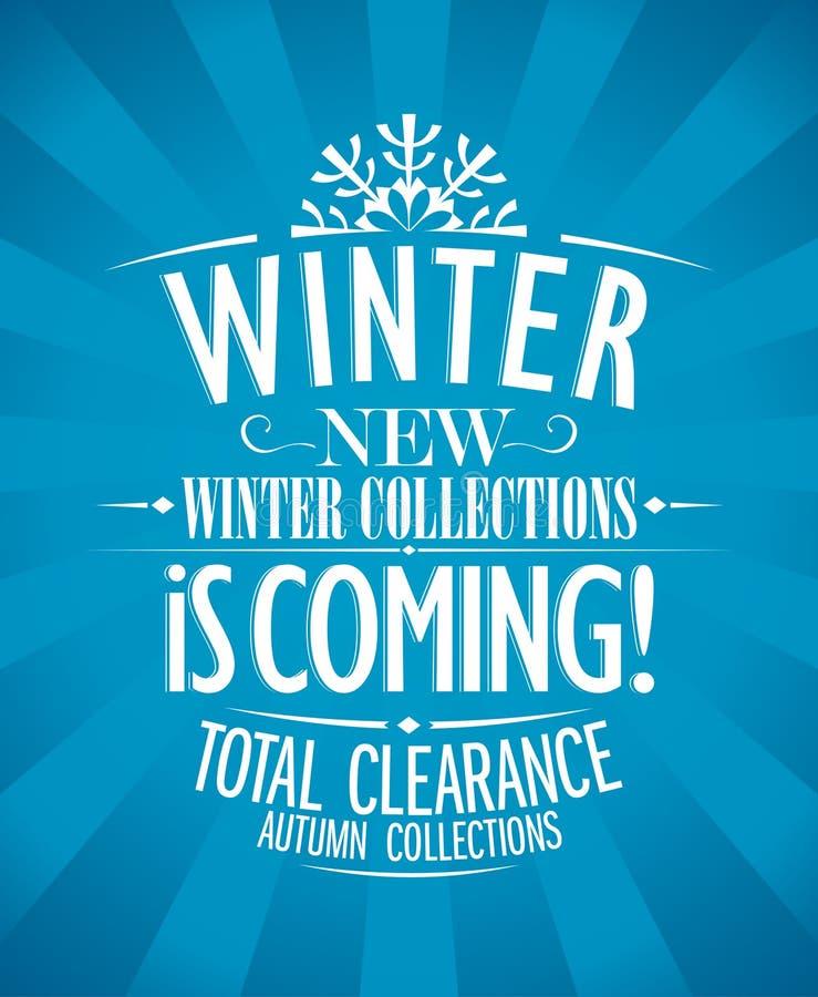 De winter is komend ontwerp. royalty-vrije illustratie