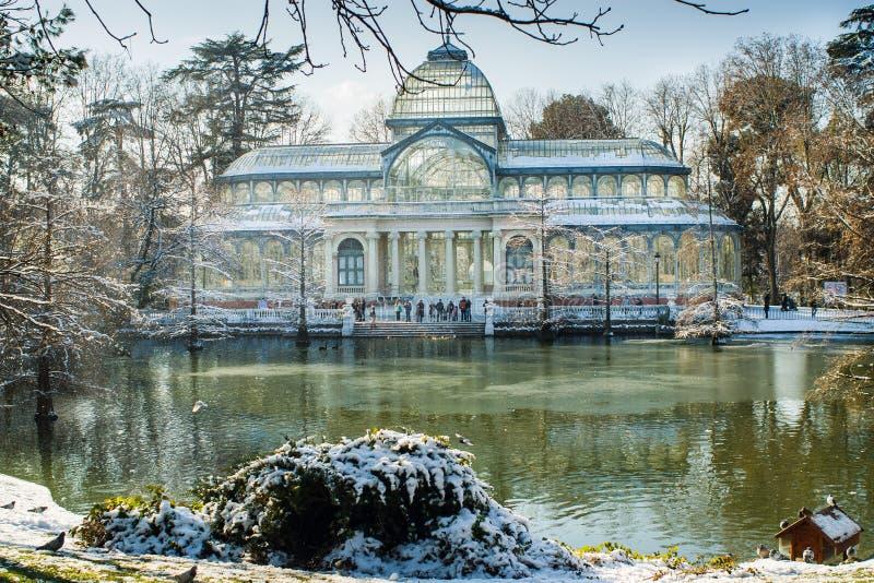 De winter in Madrid stock afbeelding