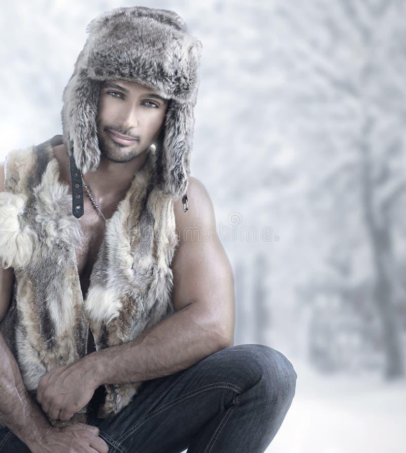 De winter mannelijke manier royalty-vrije stock afbeelding