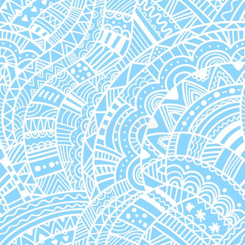 De winter naadloos hand getrokken golvend patroon Vectortextuur voor textiel, het verpakken, stof, behang en andere oppervlakten stock illustratie